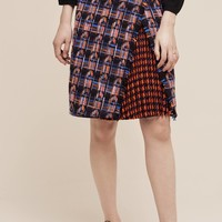 Mixed Tweed Pencil Skirt