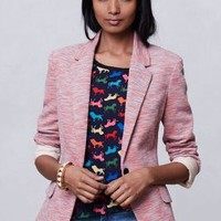 Tonal Knit Blazer by Cartonnier Pink S Jackets