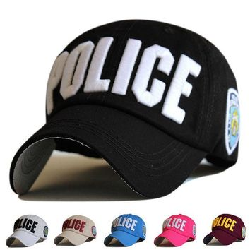 DCCKWQA High Quality Police Cap Unisex Military Hat Baseball Cap Men Snapback Caps Basketball Adjustable Sports Snapbacks For Adult