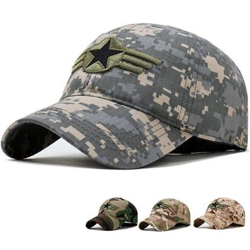 Trendy Winter Jacket 2018 High quality unisex camouflage baseball cap swag cap Casual Outdoor Sport snapback Hat for men Cotton cap women AT_92_12