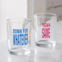 Down For Whatever Glass - Set Of 2 | Urban Outfitters