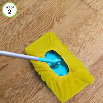 Evelots Mop/Sweeper Pad-Microfiber-Reusable-Dry Fast-Non Abrasive-One Size