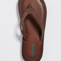 ruth genuine leather sandal in brown | maurices