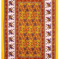 Colorful Elephants ~ Indian Tapestry ~ 60 x 90 in.