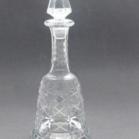 Hand Cut glass  decanter  floral and miter cut