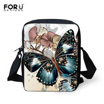 New 2016 Messenger Bag for Women Designer Butterfly Printing Spain Bag Casual Mini Female Lady Crossbody Bags Bolsos Mujer