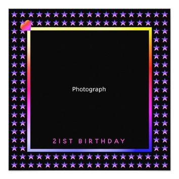 Smart Birthday Party Contemporary Design Card