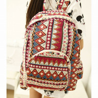 Gothic Print Cloth Backpack