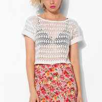 Pins And Needles Crochet Cropped Tee - Urban Outfitters