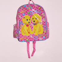 90s Lisa Frank Glitter Puppies Backpack
