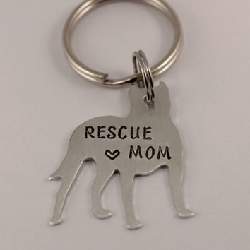 Rescue Mom (or Dad) - Pit Bull Keychain