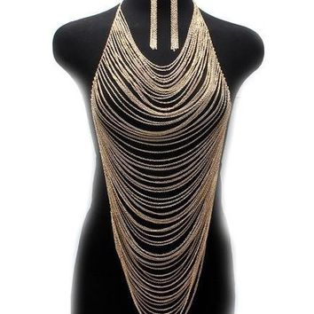 Gold & silver Color Multi Layer Necklace
