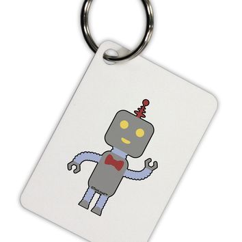 Cute Robot Male Aluminum Keyring Tag by TooLoud
