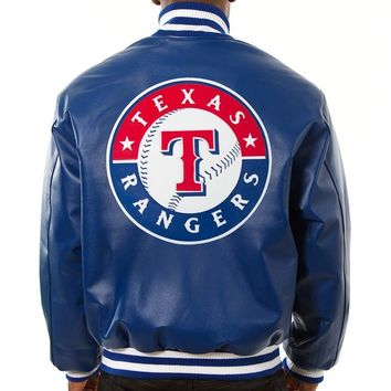 Texas Rangers mens all leather jacket
