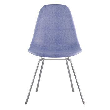 Mid Century Classroom Side Chair  Weathered Blue