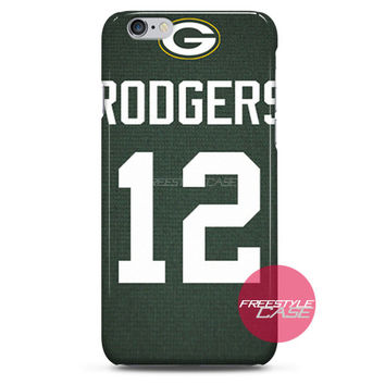 Aaron Rodgers Green Bay Packers Jersey iPhone Case 3, 4, 5, 6 Cover