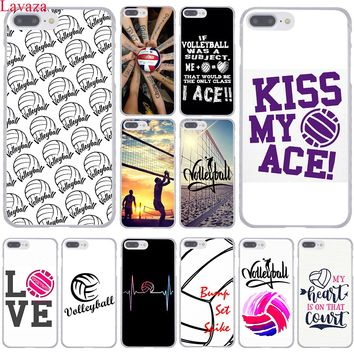 Lavaza Volleyball Sports Hard Coque Shell Phone Case for Apple iPhone 8 7 6 6S Plus X 10 5 5S SE 5C 4 4S Cover
