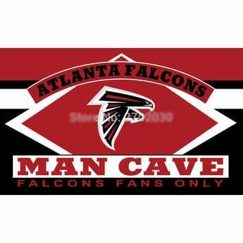 Atlanta Falcons Fans Only Flag MAN CAVE 3ft X 5ft Banners