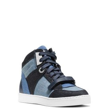 Ollie High-Top Denim Sneaker | Michael Kors