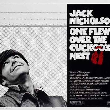 One Flew Over The Cuckoo's Nest 11x14 Movie Poster (1975)