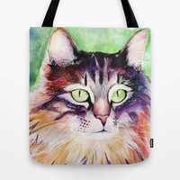 Cat Tote Bag by hannahclairehughes