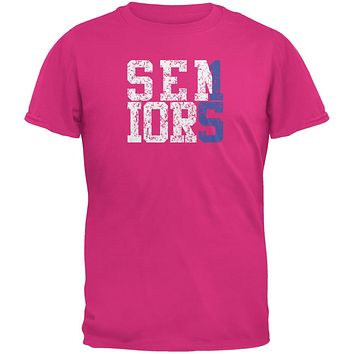 Graduation Seniors 2015 Blue Pink Adult T-Shirt