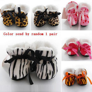 Baby Boy Girls Shoes Soft Sole Kids Toddler Infant Boots Prewalker First Walkers 29 Colors NW