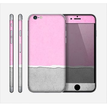 The Vintage Gray & Pink Texture Skin for the Apple iPhone 6