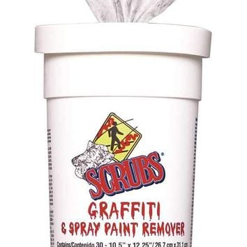 Scrubs Graffiti And Spray Paint Remover Towel 30 Count