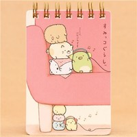 pink Sumikkogurashi animal small ring binder notebook - Memo Pads - Stationery