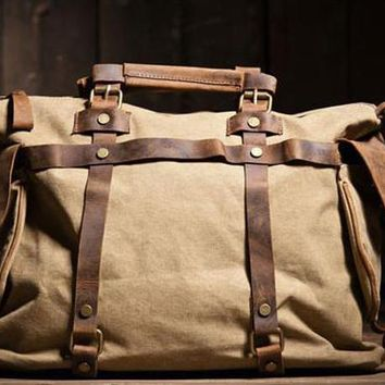 Unisex military Canvas Men's Messenger Bag