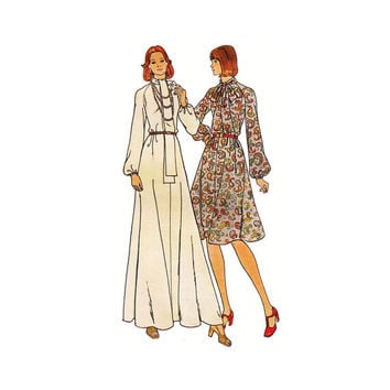 1970s Simplicity 3943- Woman's Loose-Fitting, Flared Dress Size 14 ||Bust 36in /80cm ||Vintage Sewing Pattern UNCUT