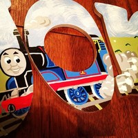 THOMAS THE TRAIN INSPIRED HAND PAINTED WOOD WALL LETTERS