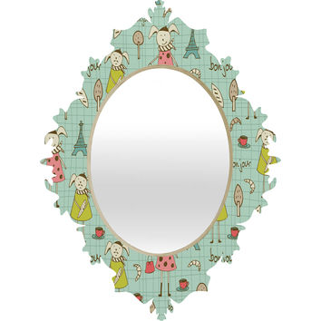Heather Dutton Bonjour Lapin Baroque Mirror