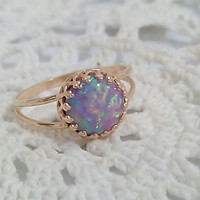 ENGAGEMENT RING opal Engagement gold or silver ring