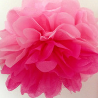 Tissue paper pom pom two colors // diy wedding // wedding decor // birthday // reception // tea party