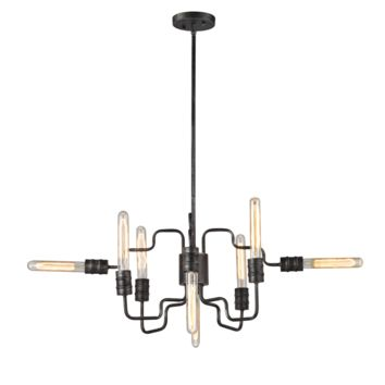 Transit 8 LIght Chandelier