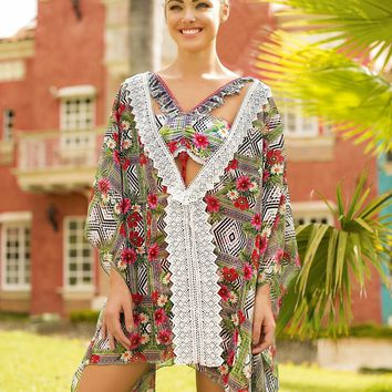 Mar Trinidad Tropical Print Cover Up
