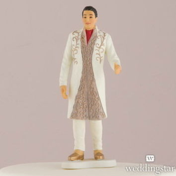 Weddingstar 9475 Traditional Indian Bride and Groom Figurine Cake Toppers Indian Groom in Traditional Attire Groom Only