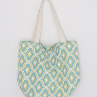 Turquoise Moroccan Reusable Grocery Bag // Market Tote // Farmers Market Bag // Farmers Market Tote // Reusable Grocery Tote