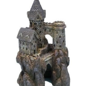 AQUATICS - ORNAMENTS/DECOR - MAGICAL CASTLE SMALL ORNAMENT - AGE-OF-MAGIC - PENN PLAX INC - UPC: 30172027277 - DEPT: AQUATIC PRODUCTS