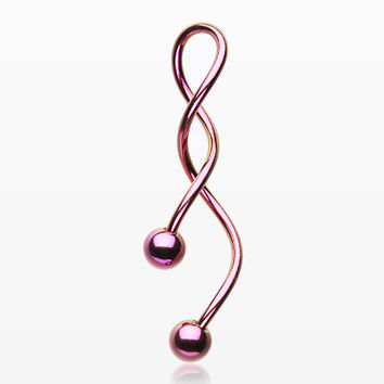 Colorline Steel Twister Spiral Belly Button Ring