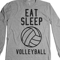 eat sleep volleyball-Unisex Heather Grey T-Shirt