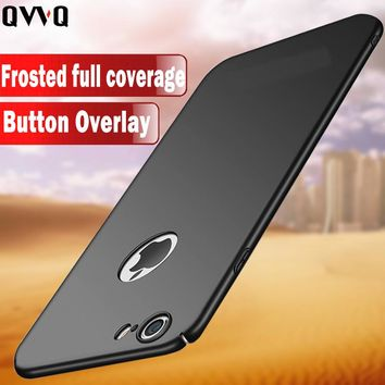 Luxury Simple Phone Case For Apple iPhone 6 6S Plus PC Full Protect Cover For iPhone 7 8 Plus X 5 5S SE Matte Hard Plastic Cases