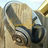 GORGEOUS Swarovski Crystal Bling Beats by Dre Solo 2 Headphones
