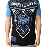 American Fighter Men's Blue Mountain Graphic T-Shirt