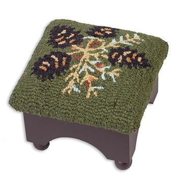 Pine Cone Footstool, 9%26quot;H