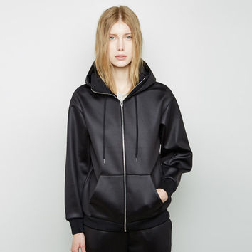 Shiny Bonded Fleece Sweatshirt by T by Alexander Wang
