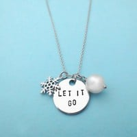 Let It Go, Frozen, Elsa, Anna, Frozen, Gold, Silver, Necklace