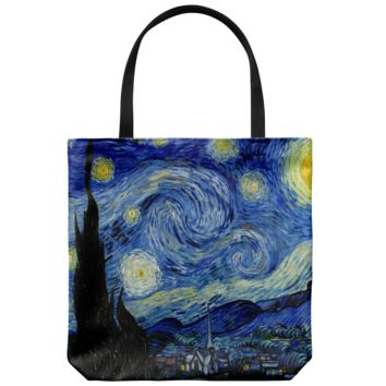 Starry Night Vincent van Gogh Tote Bag
